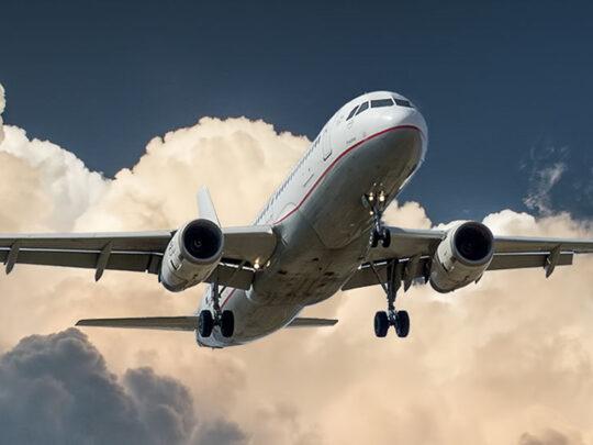 airplane during flight