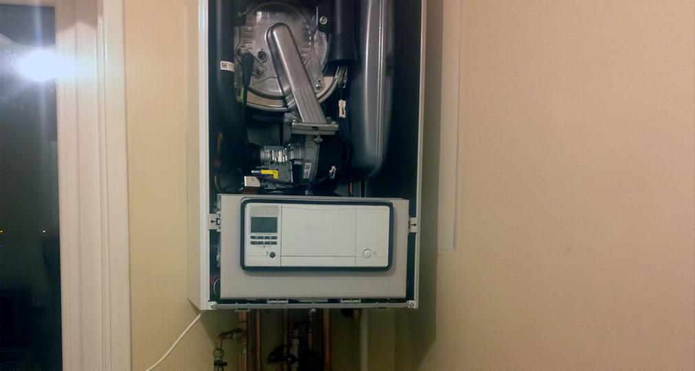 boiler cover door open
