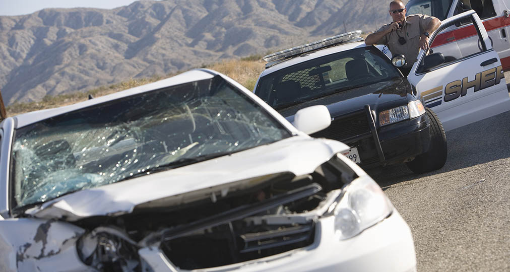 car accident on interstate highway