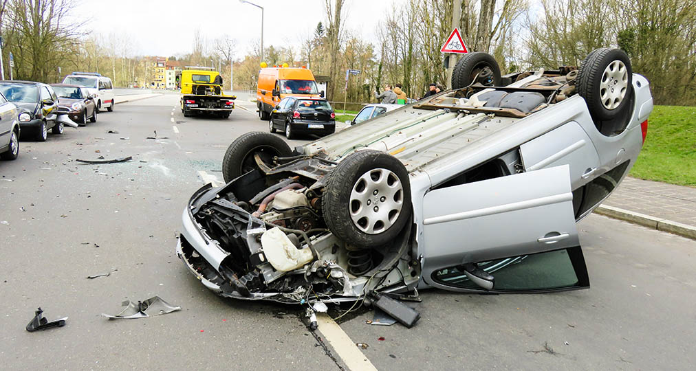 car wreck after accident