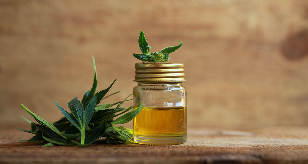 cbd oil and leaves