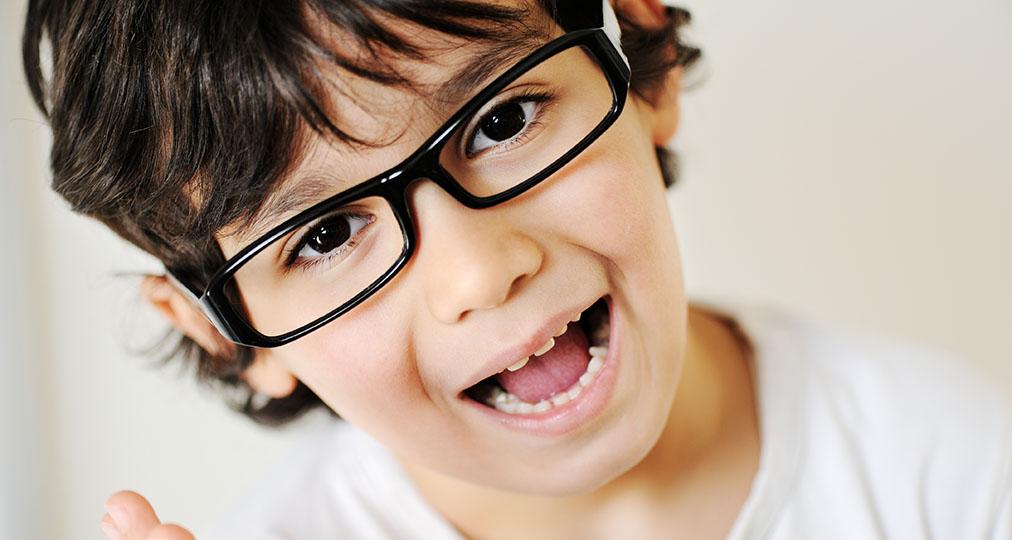 child wearing eyeglasses