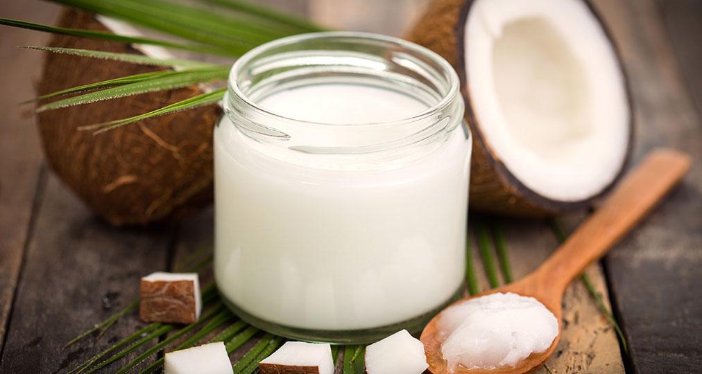 coconut milk in a jar