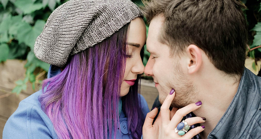 cute young couple in love