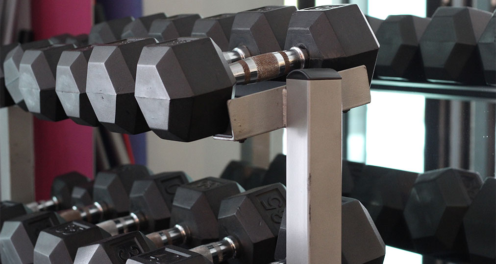 dumbbells fitness gym