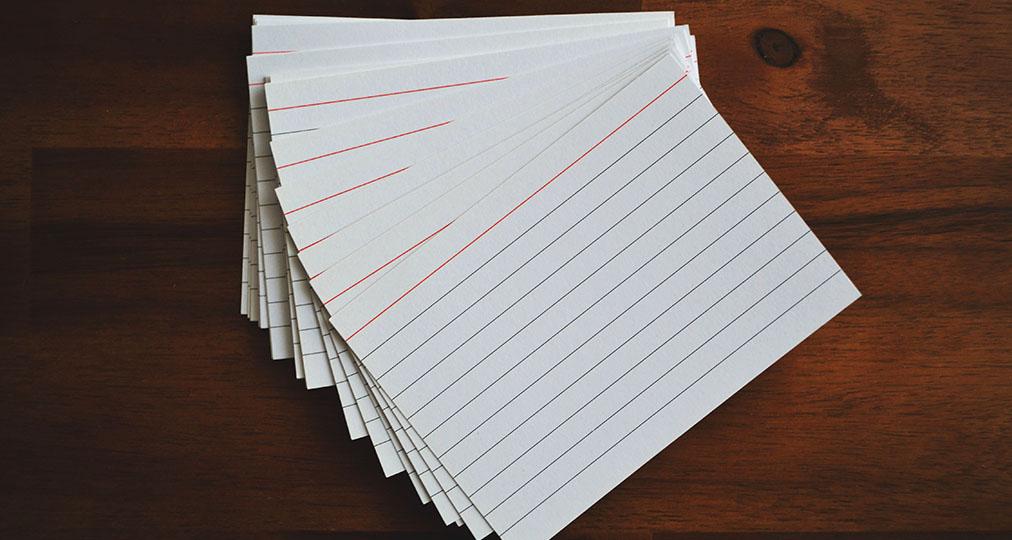 empty flashcards