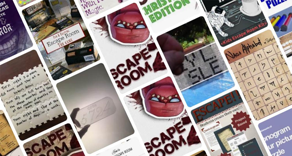 escape room concept collage