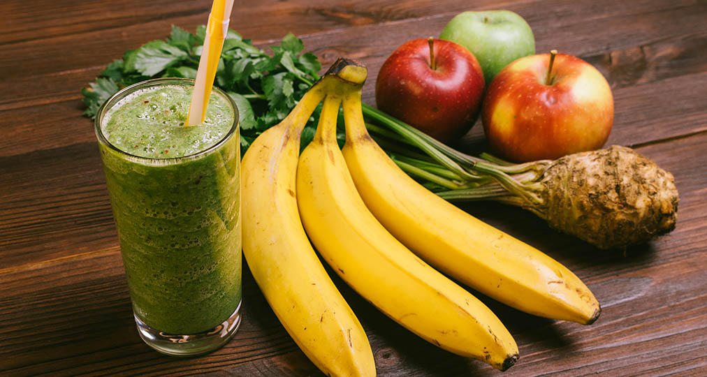 fruits and healthy shake
