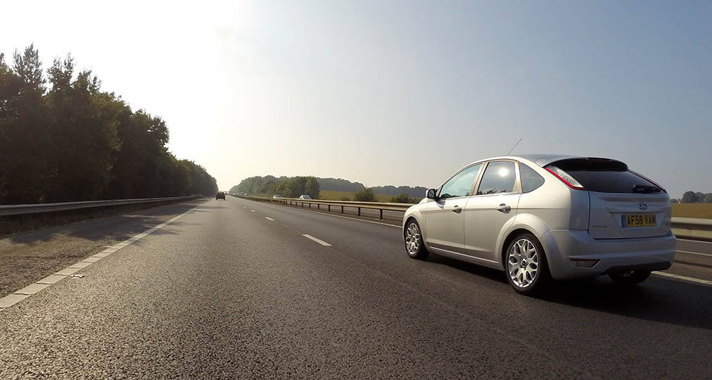 grey ford focus on m25