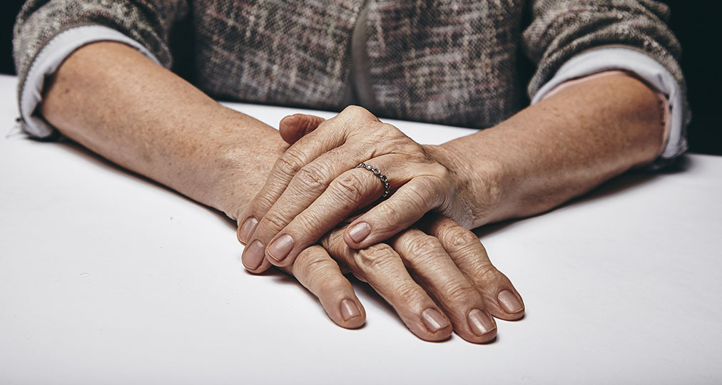 hands of aging woman