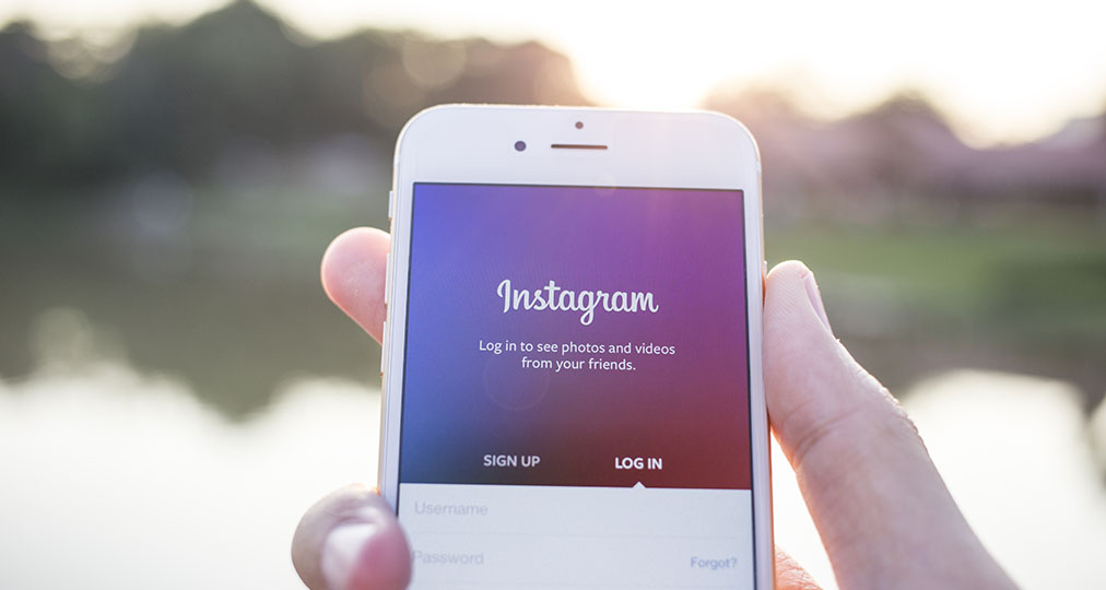 instagram signup screen