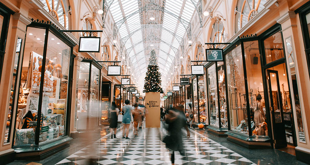 luxury shopping mall interior