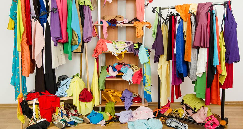 messy wardrobe clutter