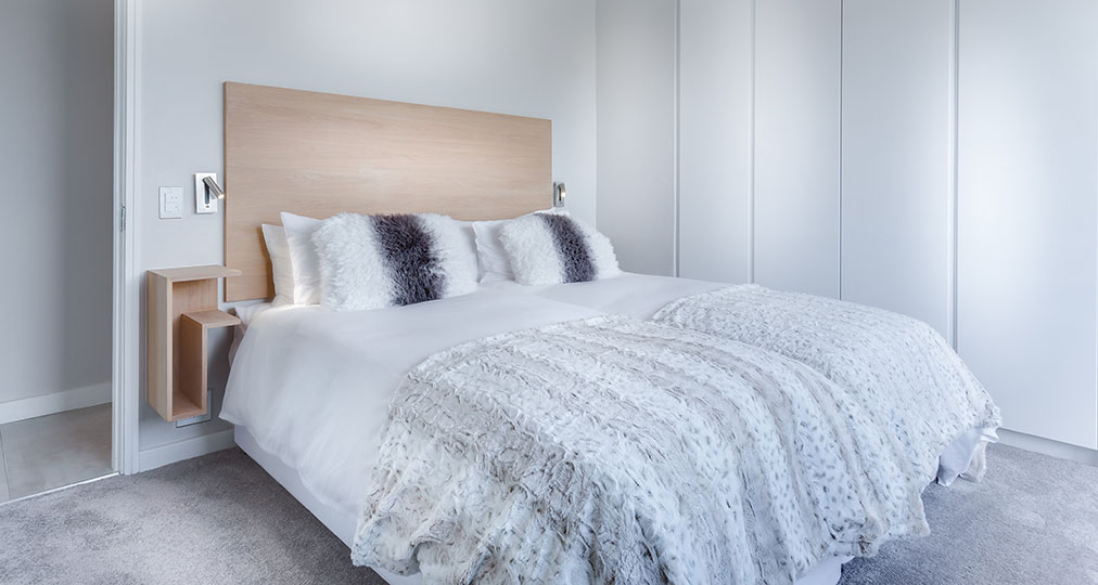 nice looking bedroom