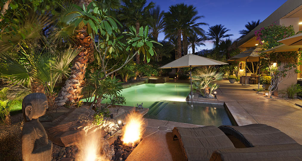 nice resort in tropical area