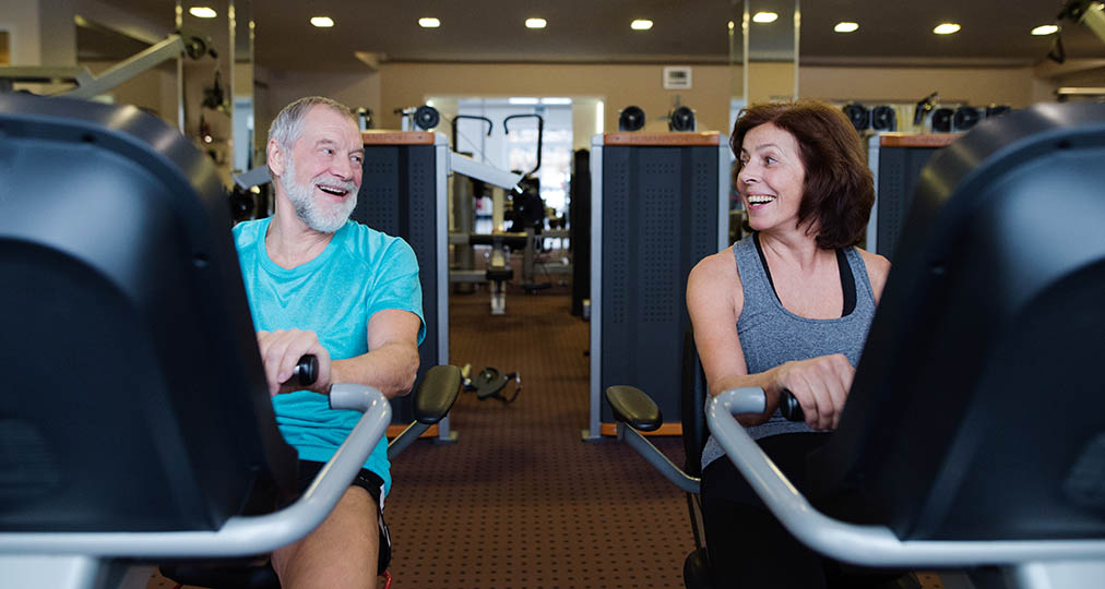 old couple at gym