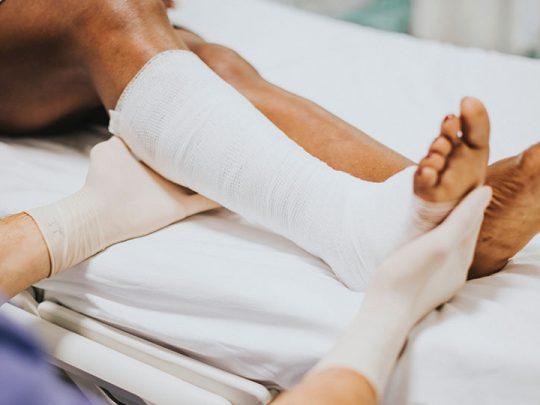 patient leg problem therapy