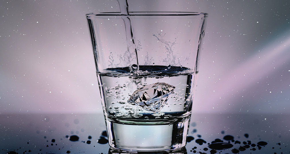 pouring crystal clear water