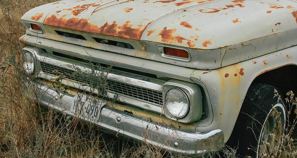 rusty junk car