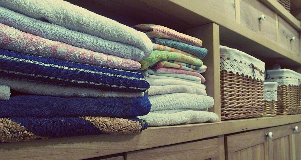 towels in the wardrobe