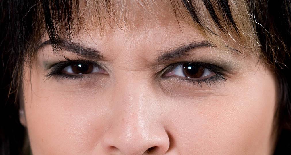 woman hazel eyes