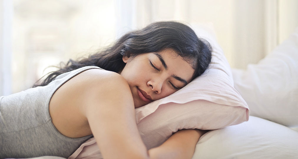 woman sleeping during the day