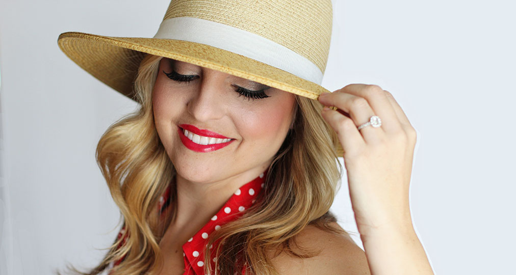 young woman big smile